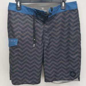 Rip Curl | Swim/Board Shorts | Gray/Blue/Black